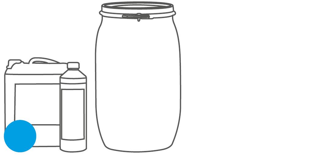 Gebinde Flasche, Kanister und Fass