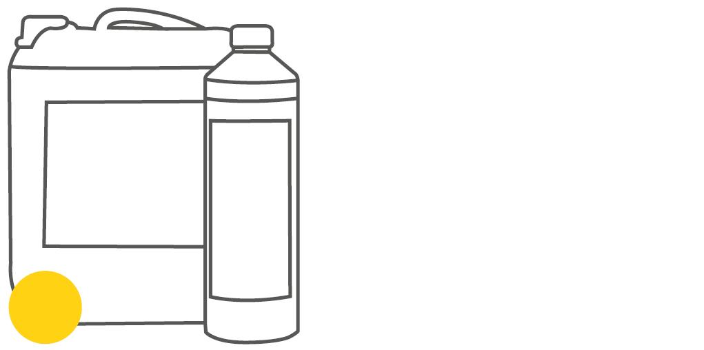 Gebinde Flasche und Kanister