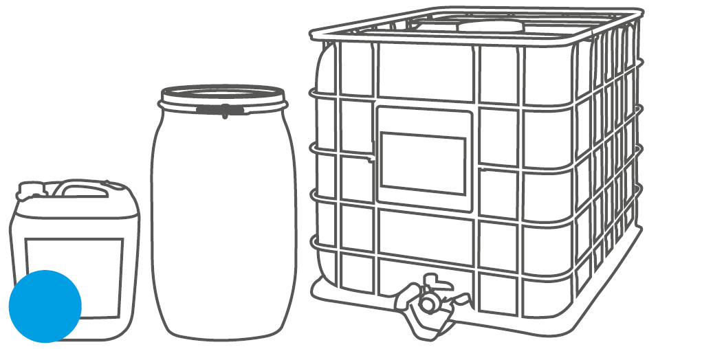 Packaging canister, barrel and IBC