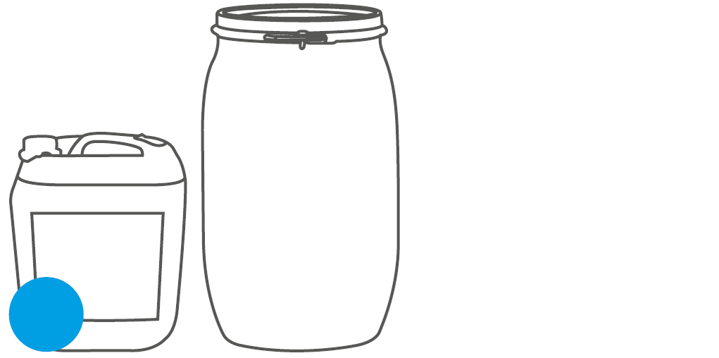 Packaging canister and barrel