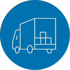 24 hour delivery service icon