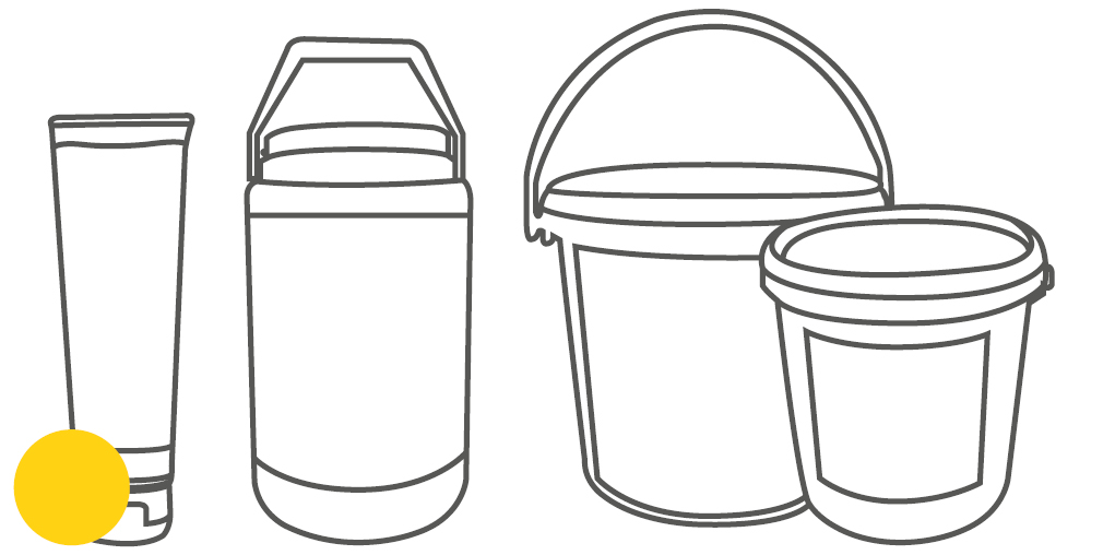 Packaging can, bucket and tube