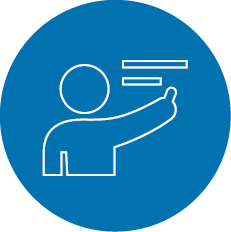Product and application trainings icon